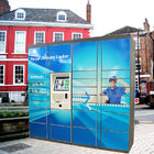 Custom Electronic Parcel Lockers Smart Package Delivery Lockers In Blue Color