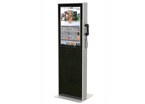 32 Inch Interactive LCD Digital Signage , Semi Outdoor Digital Signage Kiosks Machine