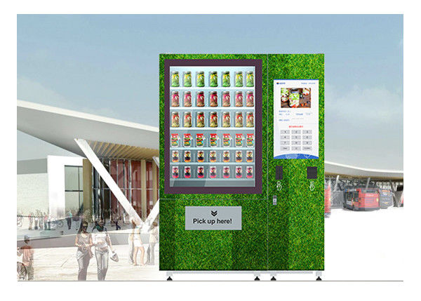 QR Code Fresh Fruit Food Salad Vending Machine Refrigerator With Touch Screen