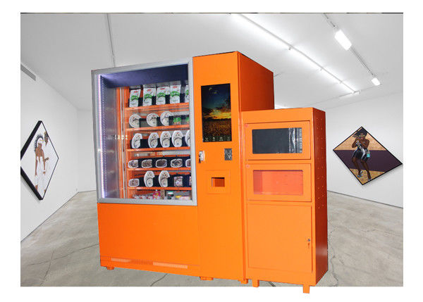 24 Hours Fast Food Vending Machine With Microwave Oven And Refrigerator