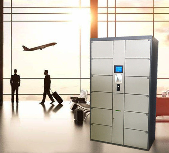 12 Door Airport Public Storage Locker For Luggage Deposit With Advertising Function
