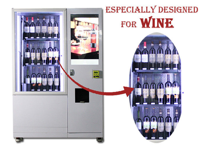 Automatic Elevator Red Wine Bottle Vending Machine With Lift And Conveyor System