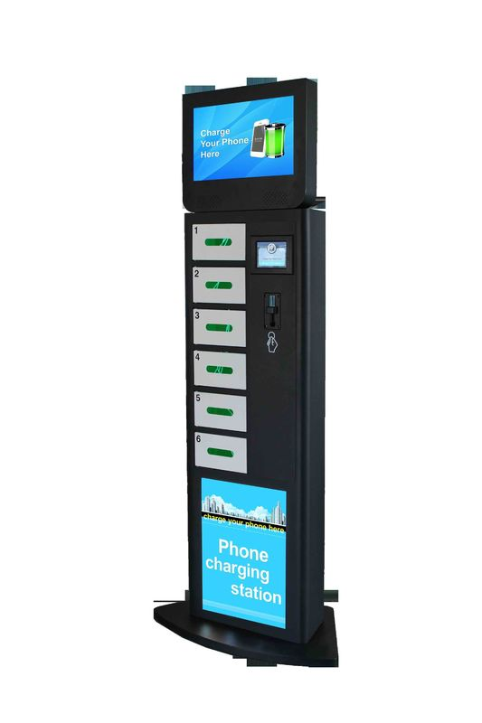 Shopping Mall Envent Public Mobile Charging Stations With 5 Inch Touch Screen