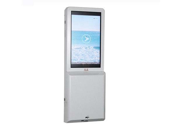No Touch Electric 35W Lcd Advertising Player Hand Sanitizer Dispenser