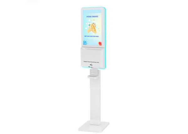 Floor Stand Smart Kiosk Hand Sanitizer LCD Digital Signage